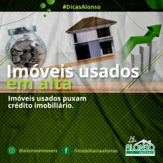 Imóveis usados puxam crédito imobiliário.