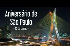 Parabéns São Paulo, a nossa casa! 465 anos de vida! Nosso amor só aumenta a cada ano!