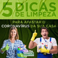 5 DICAS DE LIMPEZA PARA AFASTAR O  CORONAVÍRUS DA SUA CASA